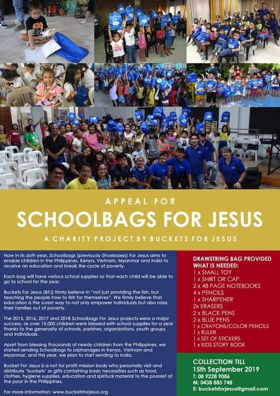 school bags for jesus